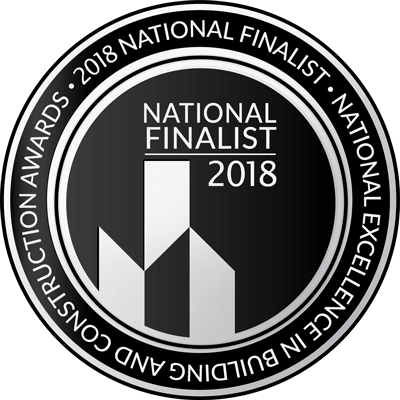 National Excellence in Building and construction Awards - 2018 National Finalist